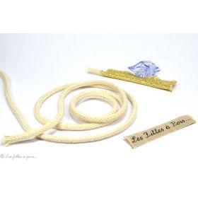 Cordon bourrelet passepoil coton - Blanc 4mm