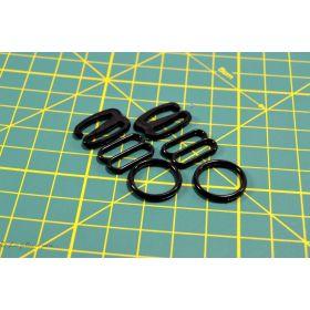 Accessoires de soutien gorge 10mm - Noir- Lot de 6