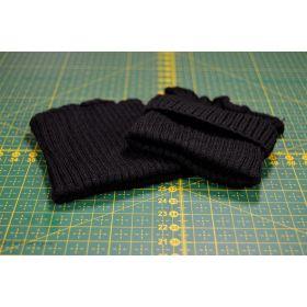 2 poignets bord côte - Noir