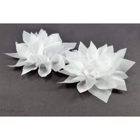 Fleur de lotus en tulle 11cm - Blanc