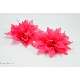 Fleur de lotus en tulle 11cm - Rose fuchsia