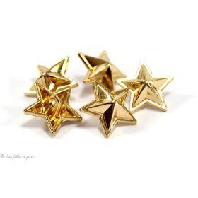 Boutons étoile - 16.50mm - Métal doré