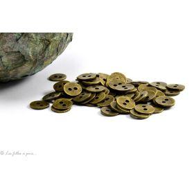Boutons ronds - 11mm - Métal bronze - 1