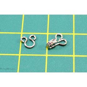 Agrafes métal à ressorts - Argenté - Lot de 10 sets