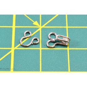 Agrafes métal à ressorts - Argenté - Lot de 10 sets - 1