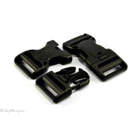 Fermeture rapide avec sécurité en plastique noir 32mm