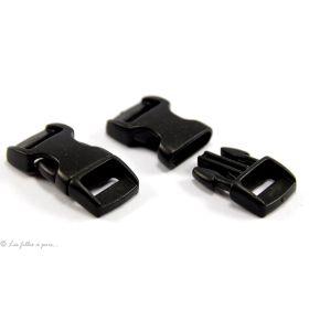 Fermeture rapide en plastique noir 10mm
