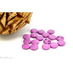 Boutons boule plat - 12.5mm - Violet mauve - Lot de 10