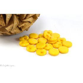 Boutons boule plat - 12.5mm - Jaune safran - Lot de 10