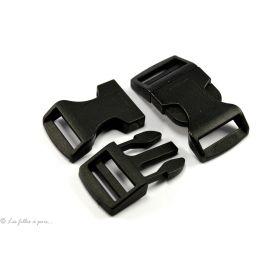 Fermeture rapide en plastique noir 25mm