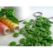 Boutons résine - 9mm - Vert olive - Lot de 20