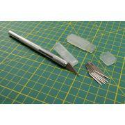 Scalpel de précision en aluminium + étui de 5 lames ou étui de 6 lames pour scalpel - 1