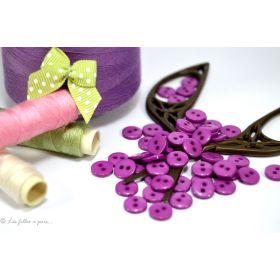Boutons résine - 9mm - Violet parme - Lot de 20