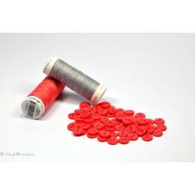 Boutons résine - 9mm - Corail - Lot de 20