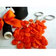 Boutons résine - 9mm - Orange- Lot de 20