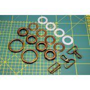 Kit création de sac - Bronze antique non patiné - 32mm - Kit 17 pièces - 1