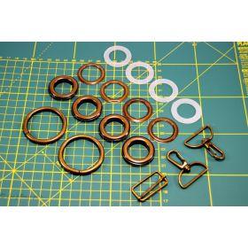 Kit création de sac - Bronze antique non patiné - 32mm - Kit 17 pièces