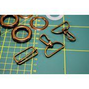 Kit création de sac - Bronze antique non patiné - 32mm - Kit 17 pièces - 8