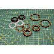 Kit création de sac - Bronze antique non patiné - 32mm - Kit 17 pièces - 10