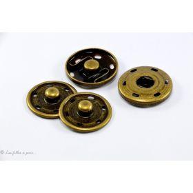 Pressions à coudre en métal - 30mm - Bronze - Lot de 2