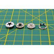 Boutons-pression à sertir motif étoile - 11mm - Blanc et noir - Lot de 6 - 4