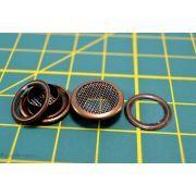 Oeillets à sertir rond avec grille d'aération - Bronze antique - 8mm - Lot de 10 - 1