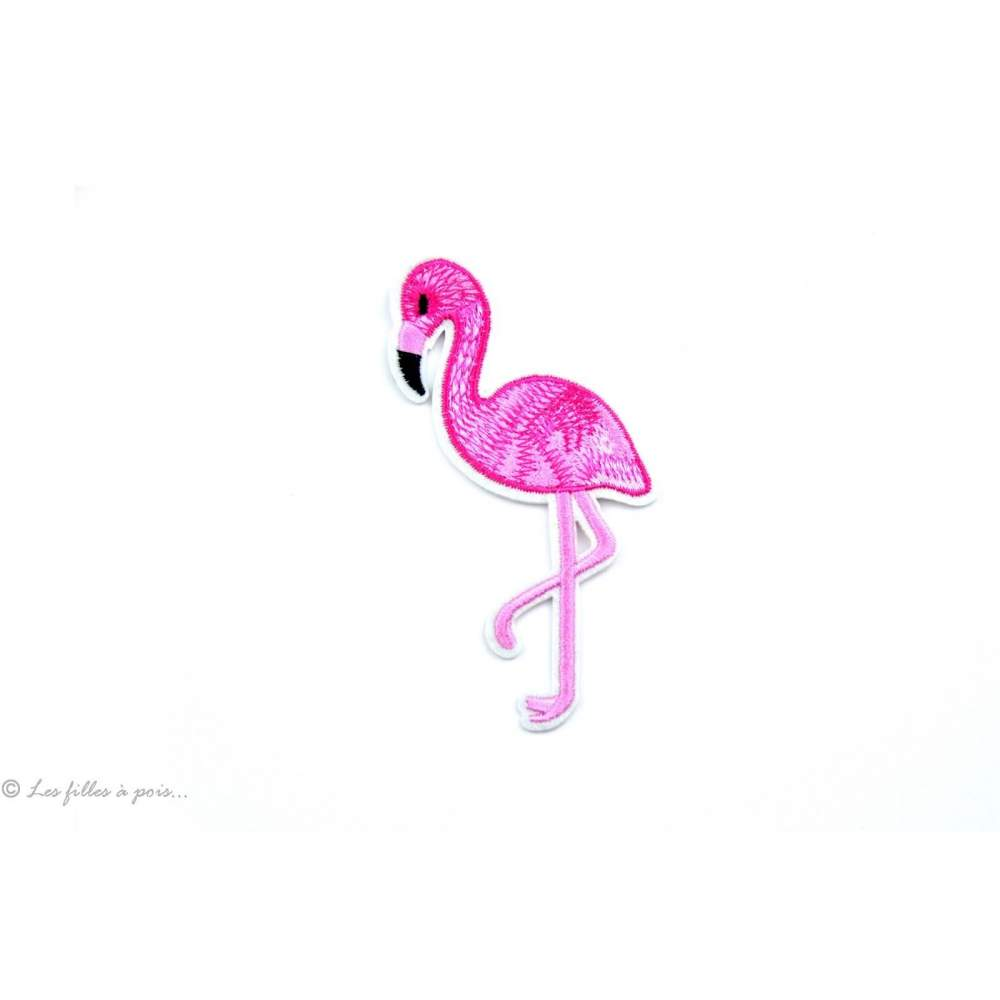 Ecusson flamant rose - Rose - Thermocollant - 1