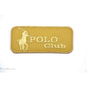 Ecusson polo club - Beige - Thermocollant
