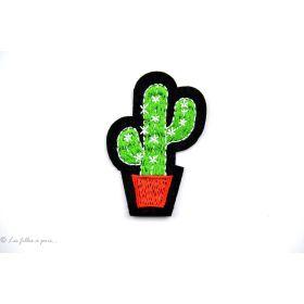 Ecusson cactus - Vert - Thermocollant