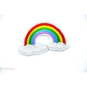 Ecusson arc en ciel - Multicolore - Thermocollant