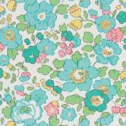 Tissu coton Betsy - Bleu turquoise - Liberty Of London ®