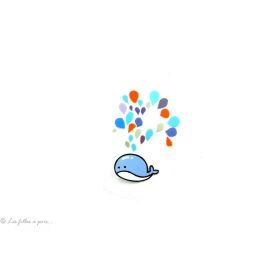 Transfert Baleine - Bleu - Thermocollant