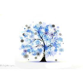 Transfert arbre de vie gelé - Bleu - Thermocollant - 1