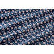 TISSU COTON SUSIE STONE BLUE - COLLECTION CANDY BLOOM - TILDA ®