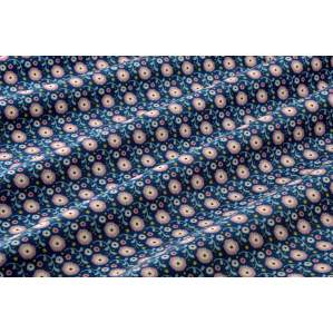 TISSU COTON SUSIE STONE BLUE - COLLECTION CANDY BLOOM - TILDA ®