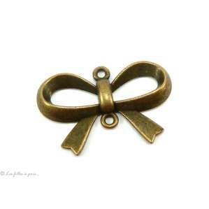 Lot de 2 breloques connecteur noeud bronze antique 21 x 15mm