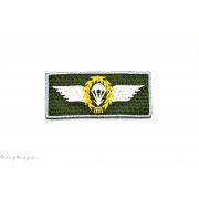 """Ecusson militaire aéroporté Airborne"""" - Vert - Thermocollant  - 1"""