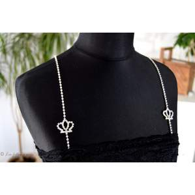 Bretelles strass motif couronne