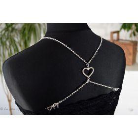 Bretelles strass motif coeur