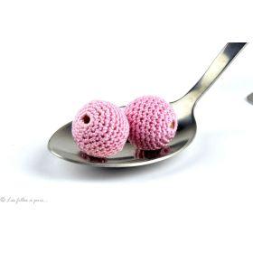 Perle crochetée faite main qualité supérieure rose pâle