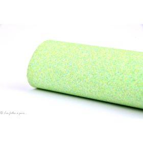 Coupon simili cuir - Glitter - Vert menthe