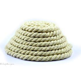 Corde torsadée coton beige 10mm