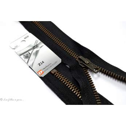 Fermeture Eclair ® non-séparable métal - Noir maille bronze antique - Oeko-Tex ®