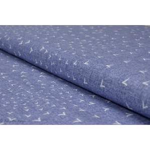 Tissu coton motif oiseau - Bleu - Collection Bird Song - Dashwood studio ®