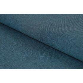 Tissu Sevilla chambray double fil - bleu pétrole - Oeko-Tex - Stof Fabric ®