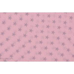 Coudes thermocollants motif étoiles - Rose et argenté - France Duval Stalla ® - Lot de 2