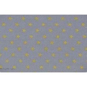 Coudes thermocollants motif étoiles - Gris et doré - France Duval Stalla ® - Lot de 2