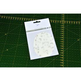 Coudes thermocollants motif libellules - Blanc et argenté - France Duval Stalla ® - Lot de 2