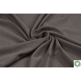 Tissu jersey coton uni marron - Taupe - Bio - Lillestoff ®