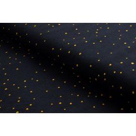 "Tissu jersey ""Twinkle Night"" - Bleu nuit pois dorés - Atelier Brunette ®"